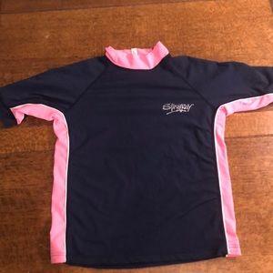 Stingray swim shirt. Girls size 14 xl